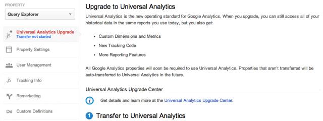 Google запускает инструмент перехода на Universal Analytics