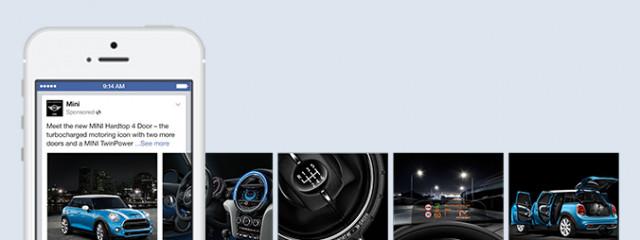 Facebook запускает мобильную версию рекламной карусели