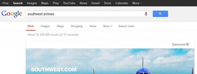 Google тестирует баннеры в выдаче поиска