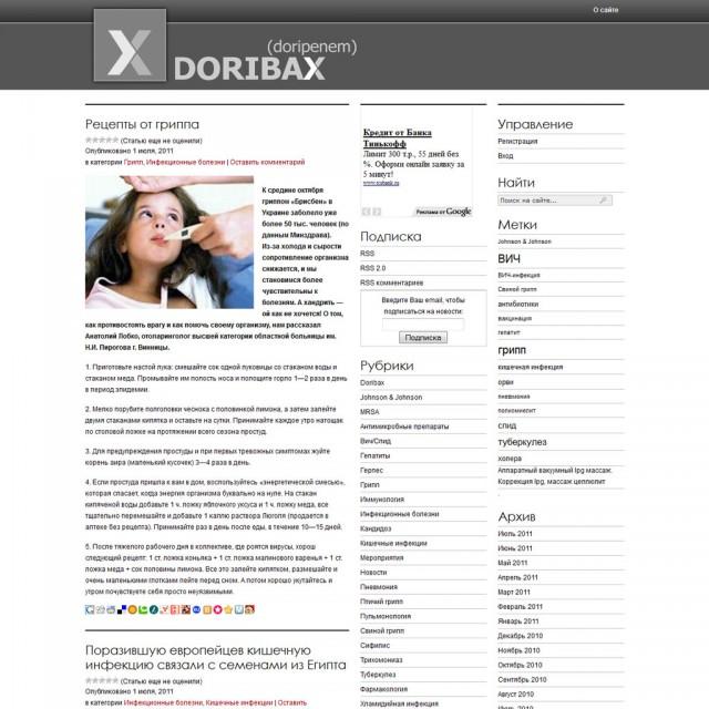 Doribax (doripenem) - лечение инфекций