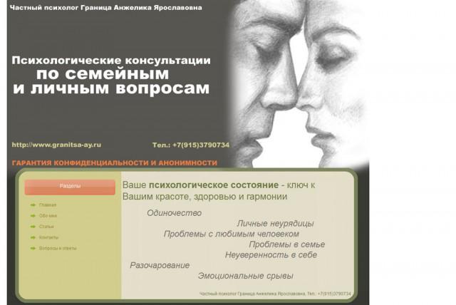 Частный психолог Граница Анжелика Ярославовна